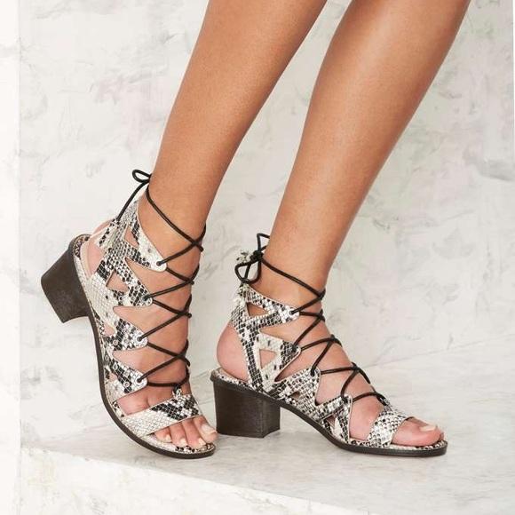 Shoes | Shellys London Snakeskin Lace